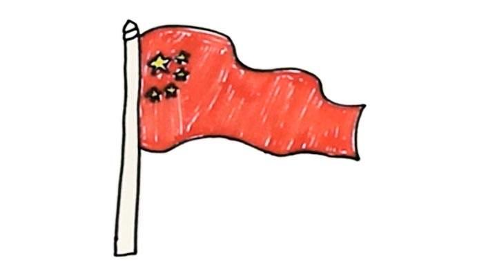 五星红旗简笔画怎么画