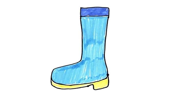 雨靴简笔画怎么画