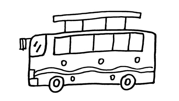 公共汽车简笔画怎么画
