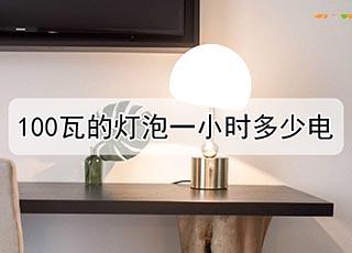 100瓦的灯泡一小时多少电