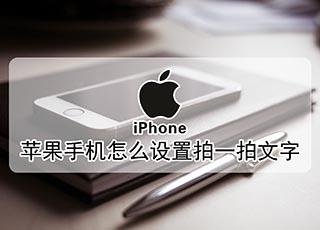 苹果手机怎么设置拍一拍文字