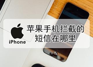 苹果手机拦截的短信在哪里