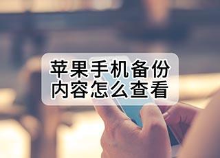 苹果手机备份内容怎么查看