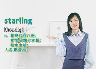 """starling""的翻译、发音及应用"