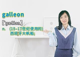 """galleon""的翻译、发音及应用"