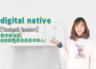 """digital native""和讲解"