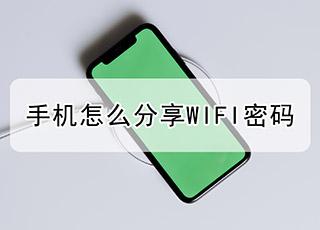 手机怎么分享WIFI密码