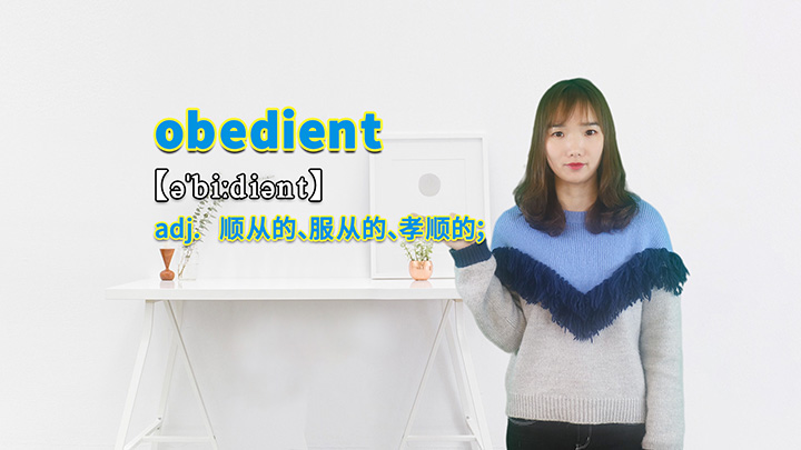 obedient的讲解